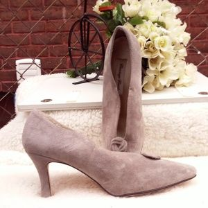 vintage carriage court suede shoes size 7 1/2